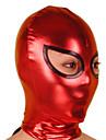 Mask Ninja Zentai Cosplay Kostymer/Dräkter Röd / svart Enfärgat Mask Glansig Metall Unisex Halloween / Jul