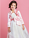 Delicate Satin Long Sleeve Flower Girl Party/Wedding Evening Jacket/Wrap (More Colors) Bolero Shrug