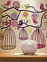 다채로운 꽃 새 벽 스티커