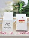 Wedding Décor Personalized Matchbooks - Black Hearts (Set of 25)