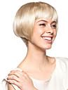 Capless korta högkvalitativt syntetiskt ljusblond bob styla håret peruk