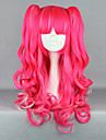 Strawberry Fantasy Pink Curly Pigtail 65cm Punk Lolita Peruk