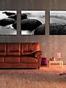 ensemble de 3 paysage de la cote de pierre de toile toiles tendues pret a accrocher