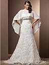 Trumpet/Mermaid Plus Sizes Wedding Dress - Ivory Court Train Sweetheart Lace/Chiffon