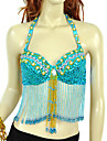 Performance Dancewear Chinlon With Beading Sequins Belly Dance Top For Ladies(More Colors)