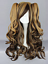 Chocolate Coffee Blended Cor Cachos Curly 70 centimetros Doce peruca Lolita