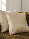 Set av 2 fast geometrisk Polyester dekorationskudde Cover