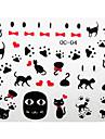 3st söt katt tecknad nail art klistermärken oc Sery nr 2 (diverse mönster)