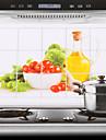 75x45cm grönsaker mönster oljesäker vattentät köksväggen klistermärke
