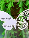 Place Cards and Holders Butterly Laser-cut Card For Wine Galss (Set of 12)