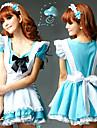 Costumes de Cosplay Uniformes Fete / Celebration Deguisement Halloween Blanc / Bleu Ciel Robe / Casque / TablierHalloween / Carnaval /