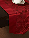 Red Polyester Rectangular / Square Table Runners