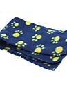 gulliga tassar mönster filt mjuk fleecefilt matta för husdjur hundar (slumpvis färg)