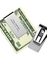 Gift Groomsman Hollowed-out Stainless Steal Money Clip