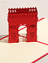 Three-dimensional Triumphal Arch Greeting Card