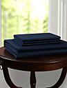 simple&opulence® drap plat, 300 tc 100% coton solide bleu fonce