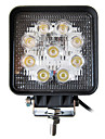 27W 9 LEDs Square Work Ljus