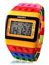 Bărbați pentru Doamne Unisex Ceas La Modă Ceas Lemn Ceas digital Piloane de Menținut Carnea LCD Calendar Cronograf alarmă Plastic Bandă