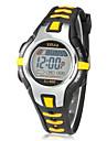 Copii Ceas Sport Ceas digital Piloane de Menținut Carnea LCD Calendar Cronograf alarmă Cauciuc Bandă Negru Roșu Orange Verde Pink Yellow