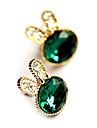 Women\'s  Bunny Navy Blue Gem Diamond Earrings E219