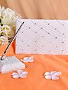 Check De Sign Wedding Guest Book and Pen Set With Rhinestones Sign In Book