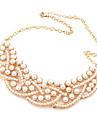 Europe and elegant boutique Korean wild temperament luxury genuine pearl false collar short necklace N342