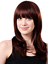 Capless lang syntetisk Red boelgete haar Wig Full Bang