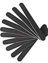10 Professional Nail File Slim Polering Sandpapper Black