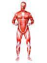 Inspirerad av Attack on Titan Bertolt Huber Animé Cosplay Kostymer/Dräkter cosplay Suits Lappverk Röd Leotard
