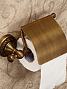 "Porte Papier Toilette Laiton Antique Fixation Murale 200 x 55 mm (7.87 x 2.16 "") Laiton Antique"