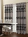 (deux panneaux) flocage floral salle de floraison assombrissement rideau