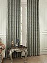 Två paneler Fönster Behandling Rokoko , Löv Polyester Material gardiner draperier Hem-dekoration For Fönster