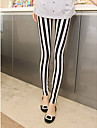 Women\'s Black-white Stripe Leggings