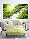 """28 Country Style Vert Horloge murale """"-35"""" En toile 5pcs"""