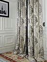 två paneler michelle luxury® rokoko elfenben jacquard energibesparing gardin drapera