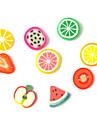3D Fimo Slice Cartoon Fresh Fruit Face Nail Art Dekorationer