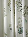 två paneler michelle luxury® lands botaniska gräs print miljövänliga gardiner draperier