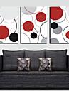 Sträckta kanvas Abstrakta färgglada cirklar Set av 3