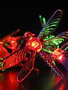 Solar Garden Lights 30 Multi Färgglada Dragonfly LED-lampor