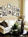Floral/Botanical Framed Canvas / Framed Set Wall Art,PVC Material Champagne No Mat With Frame For Home Decoration Frame Art