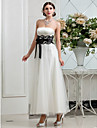 Lanting Bride® A-line Petite / Plus Sizes Wedding Dress - Classic & Timeless / Glamorous & Dramatic / Reception Ankle-length Strapless