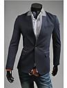 OHFZ Män s marinblå färg Kontrast One Button Suit