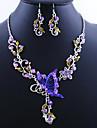 Fantastisk fjäril legering med akryl halsband, örhängen smycken som (Fler färger)
