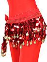 fascinante cinturon de danza del vientre de gasa con 88 monedas para damas (mas colores)