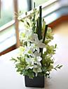 Une succursale Polyester Orchidees Fleur de Table Fleurs artificielles #(7.75*7.75*16.5)