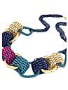 (1 buc) de epocă (pandantiv cerc) aliaj multicolor cravată colier (multicolor)
