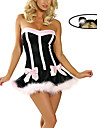 Costumes de Cosplay / Costume de Soiree Bunny girl Fete / Celebration Deguisement Halloween Incarnadin Mosaique Robe / CoiffureHalloween