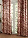 twopages® deux panneaux d\'energie pays fleurs de pivoine sauver rideau drape