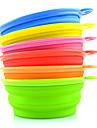 Chat Chien Bols & Bouteilles d\'eau Animaux de Compagnie Bols & alimentation Portable Pliable Rouge Vert Bleu Rose Jaune Orange Silicone
