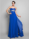 Formal Evening/Prom/Military Ball Dress - Royal Blue Plus Sizes Sheath/Column Sweetheart Floor-length Chiffon